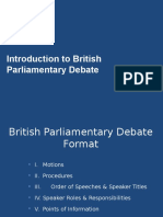 Introduction to Bp Debate