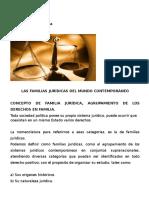 Las Familias Jurídicas Del Mundo Contemporáneo