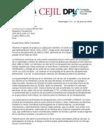 Carta Ley de Busqueda Desaparecidos