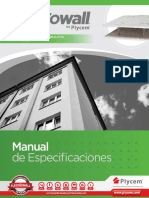 Manuales de Especificaciones Flexxowall
