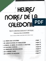Page de Présentation Et Carte de La NC (Les Heures Noires de La Calédonie)