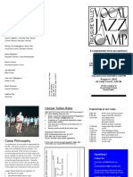 Jazz Camp Brochure 2016
