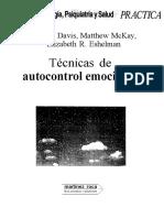 Biblioteca de Psicologia, Psiquiatria y Salud- Tecnicas de Autocontrol Emocional