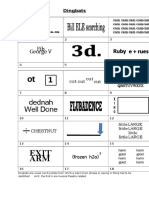 Dingbats - Answer Sheet