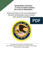 'Mississippi Burning' investigation