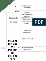 Ficha de Planificacion del cuento