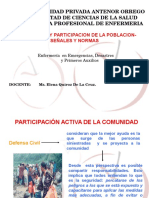 DEFENSA CIVIL PARTICIPACIÓN DE LA POBLACION