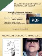 Abordaje Quirurgico de Masas Cervicales Congenitas