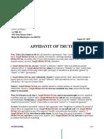 Affidavit of Truth 2015