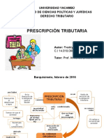 PRESCRIPCION TRIBUTARIA