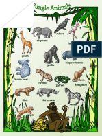 Jungle Animals Picture Dictionary