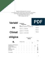 Trabajo Devariables Climatologicas