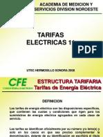 Clasificacion de Tarifas Electricas Cfe