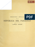 Registro Oficial de la República del Paraguay correspondiente al año 1886, Asunción año 1887