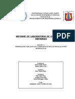 INFORME - PRACTICA N°2 PERDIDAS DE CARGA EN LOS COMPONENTES DE LAS INSTALACIOENS HIDRÁULICAS