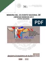 Memoria Del Xx Evento Nacional de Ciencias Básicas 2013 (1)