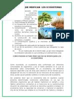 Factores Que Mdifican Los Ecosistemas