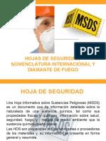 Hojas de Seguridad, Nomenclatura Internacional y Diamante (1)CLAVE