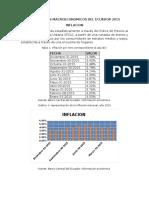 Indicadores Macroeconomicos Del Ecuador 2015