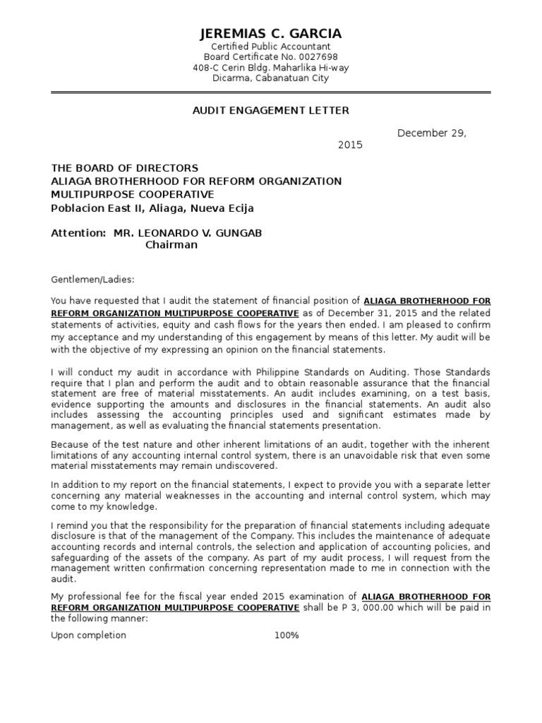 Audit Engagement Audit Financial Statement