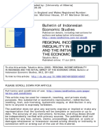 Bulletin of Indonesian Economic Studies Volume 38 Issue 2 2002 [Doi 10.1080%2f000749102320145057] Akita, Takahiro -- Regional Income Inequality in Indonesia and the Initial Impact of the Economic Cr