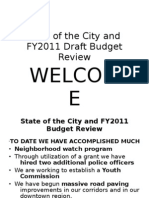 State of the City & Budget Presentation 2010