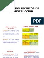Criterios Tecnicos de Construccion