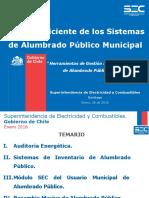 Seminario de Reglamentos de a.P. Herramientas de Gestión Eficiente de Sistemas de Alumbrado Público Municipal - 26012016