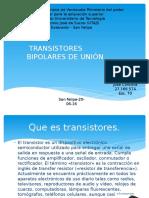 Transistores Bipolares de Unión.
