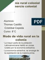 Economía Rural Colonial y Comercio Colonial