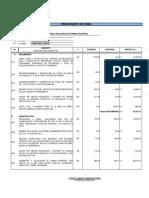 Presupuesto de Obra Puente Candelaria