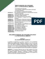 Reglamento Municipal Del Equilibrio Ecológico y La Protección Al Ambiente Del Municipio de Tlaquepaque