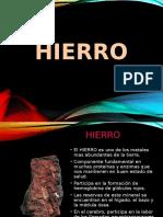 Diapositivas Hierro 1