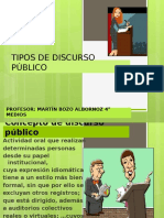 DP 4° MEDIOS 2015 Tipos de discursos