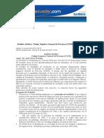 Análisis Jurídico_ Código Orgánico General de Procesos (COGP)