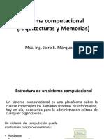Sistema Computacional (Arquitecturas y Memorias)