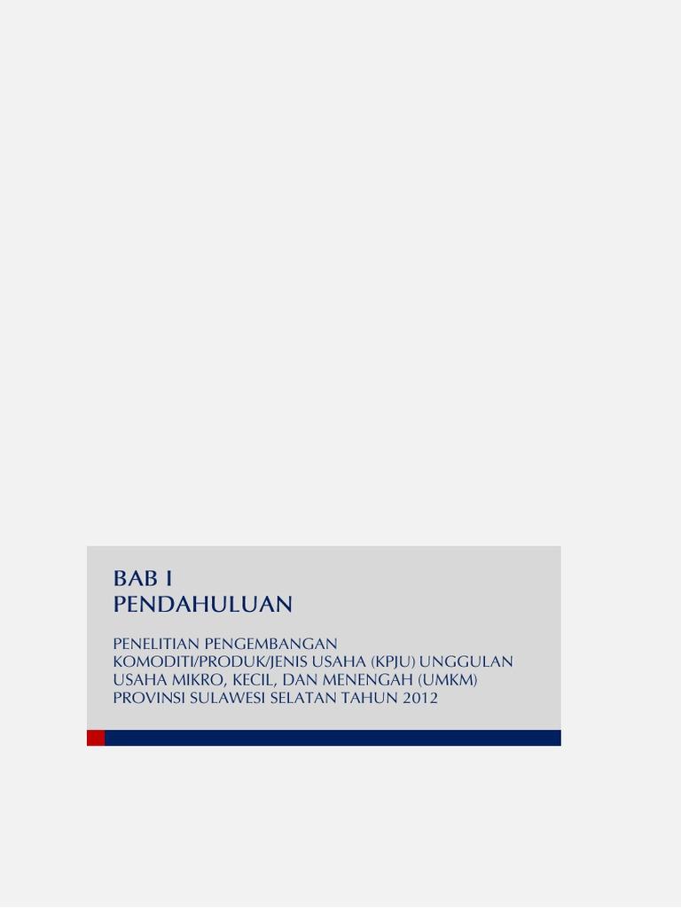 03laporanpenelitiankpjusulawesiselatan2012 Produk Ukm Bumn Teh Beras Merah