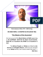 MY ASCENSION - THE GREAT AWAKENING OF DR.NEB HERU-NUN IN GHANA,WEST AFRICA