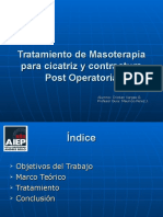 Tratamiento de Cicatriz y Contractura Post Operatoria