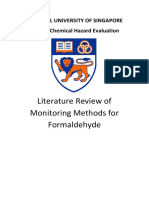 Literature Review of Monitoring Methods for Formaldehyde