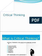 Critical Thinking Examples
