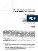 Luiz Augusto Estrella Faria - A Economia Política, Seu Método e a Teoria Da Regulação ENSAIOS FEE, 1992