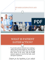 Measuring Customer Satisfaction and Patient Safety