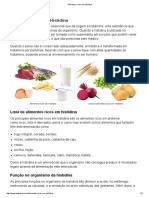 Alimentos Ricos Em Histidina