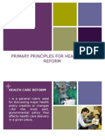 Primary Principles for Health Care Reform-final