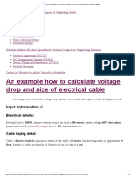 Voltage Drop and Size of Electrical Cable