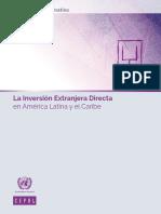 La Inversión Extranjera Directa en América Latina y el Caribe. 2016