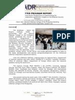 Program Report Re EDCA Forum (With Perspectives of Reactors)