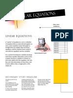 Algebra - Linear Equation