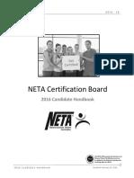 2016 NETA Exam Candidate Handbook